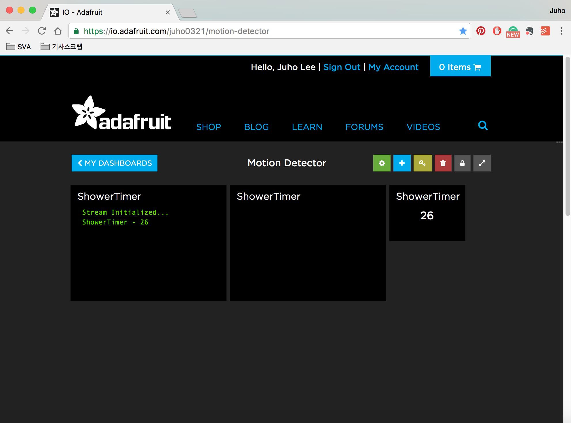 Picture of Setup IO Feeds and Dashboard, IFTTT Adafruit Connection