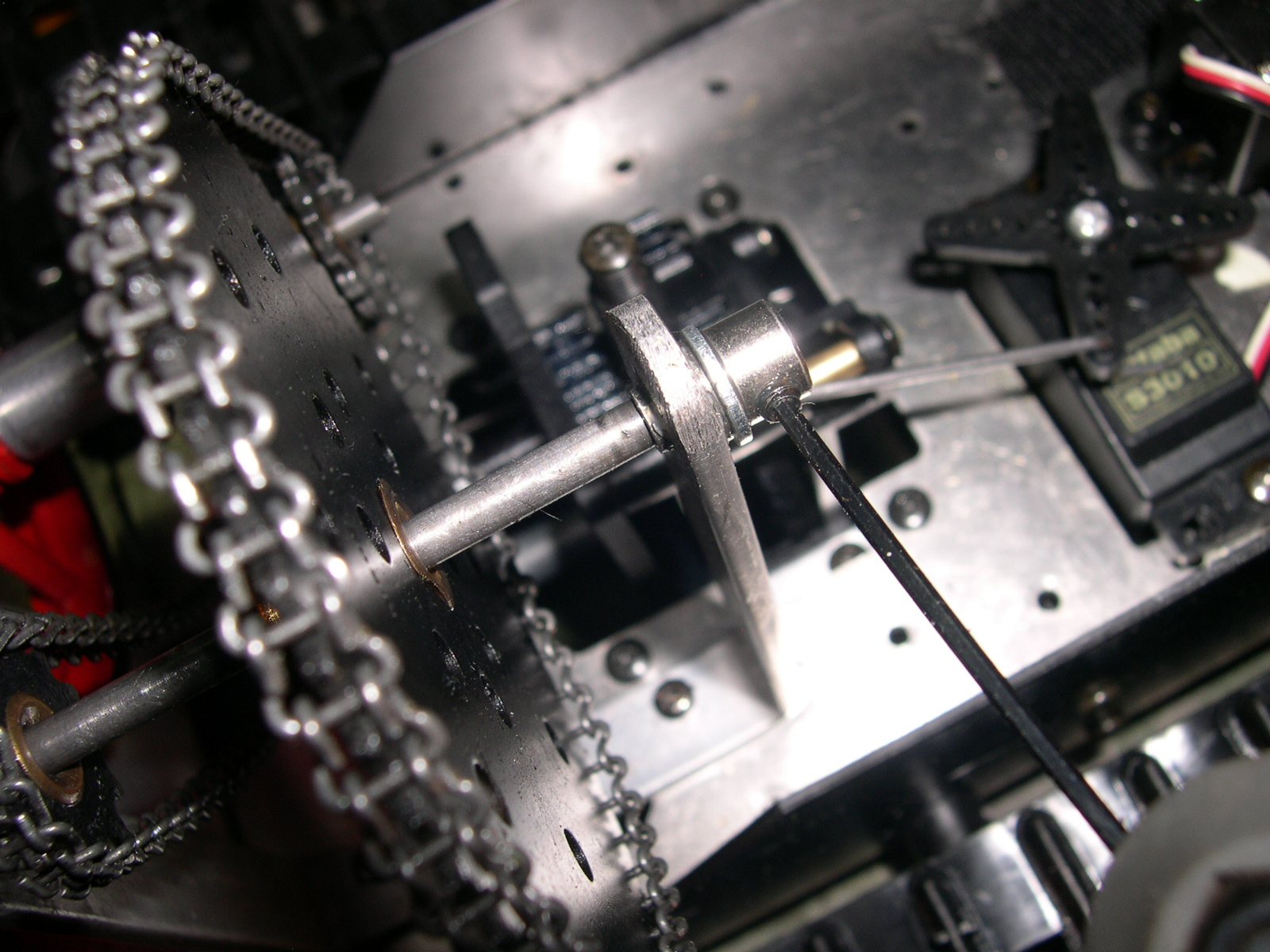 Picture of Assembly of the Sprockets and Chains
