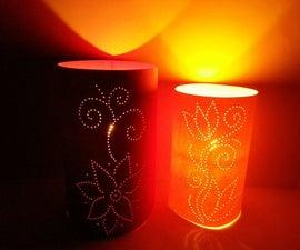 DIY Moroccan Style Luminaries