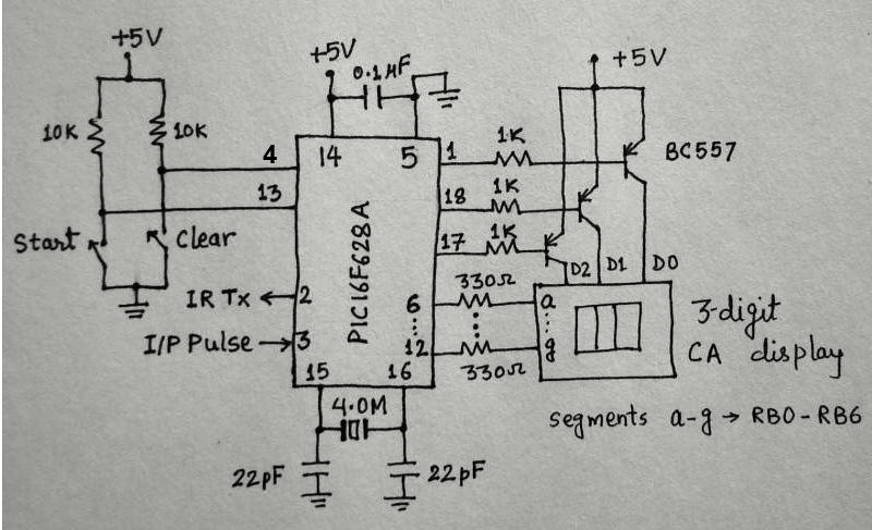Picture of Microcontroller Measures Heart Rate Through Fingertip