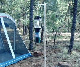 Portable camp lantern holder made at Techshop Chandler
