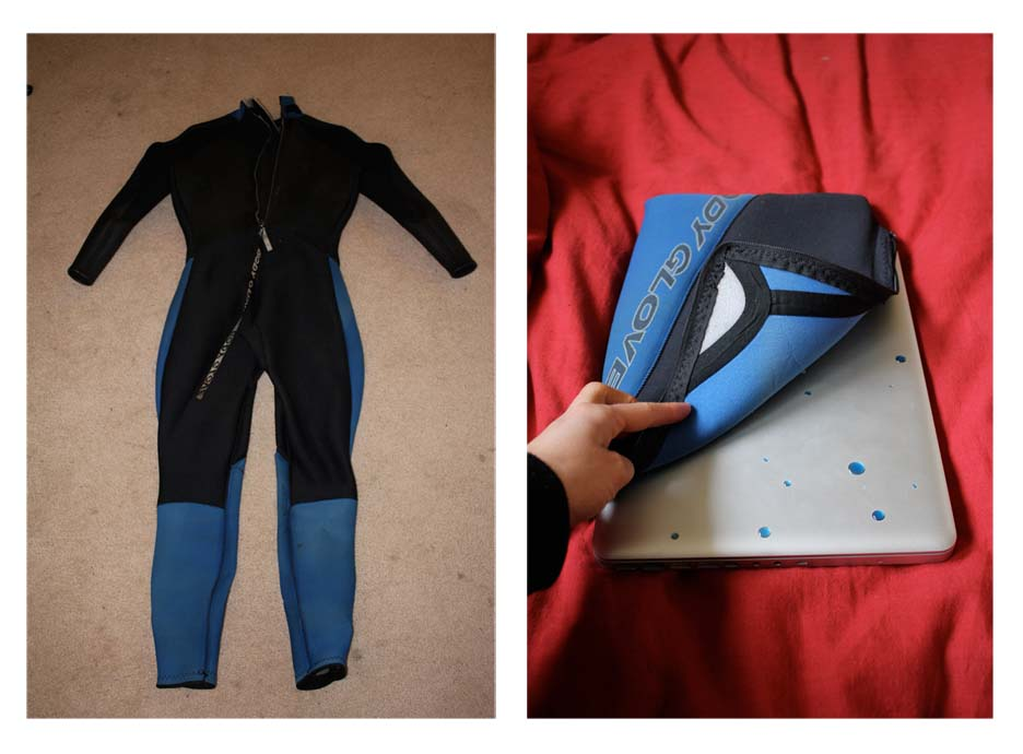 Picture of How to Make a Laptop Case/Bag Out of an Old Wetsuit