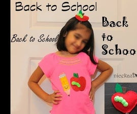 Back to School DIY T Shirt and Hair Clips for Kids
