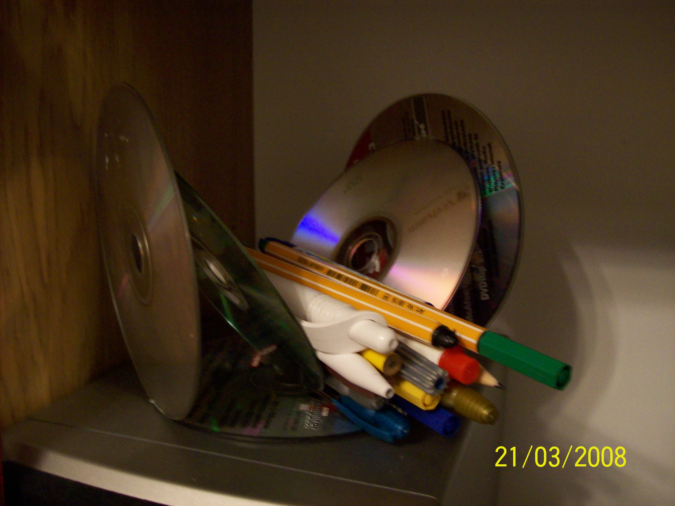 Picture of Make Use of CD's As a Pencil Holder