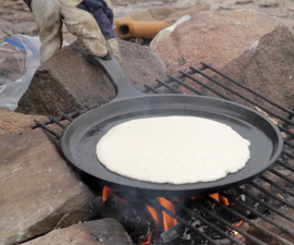 Campfire Cooking : Bacon-fish and pancakes