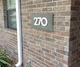 PVC House Numbers