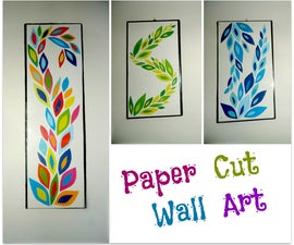 DIY Paper Cut Wall Art