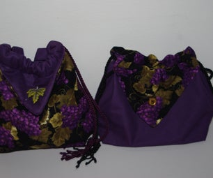 Drawstring Purse With Inside Cubbies