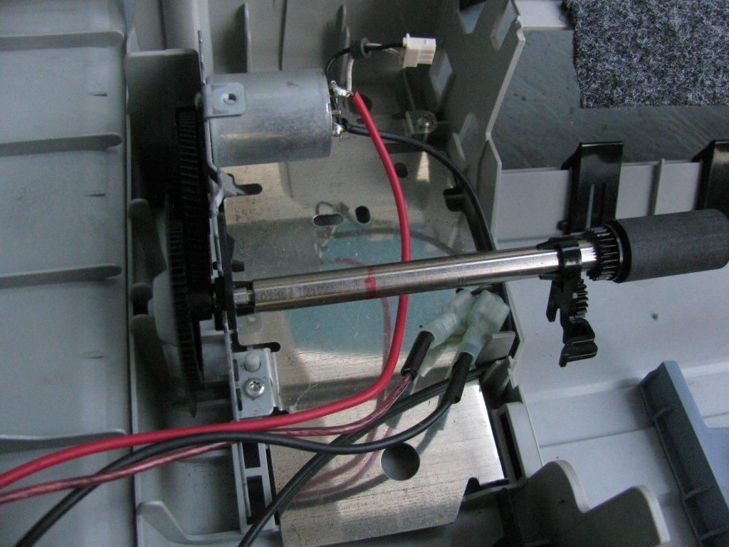 Picture of Mount the Motor and Rollers...
