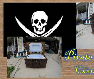 Pirate Treasure Chest Cooler