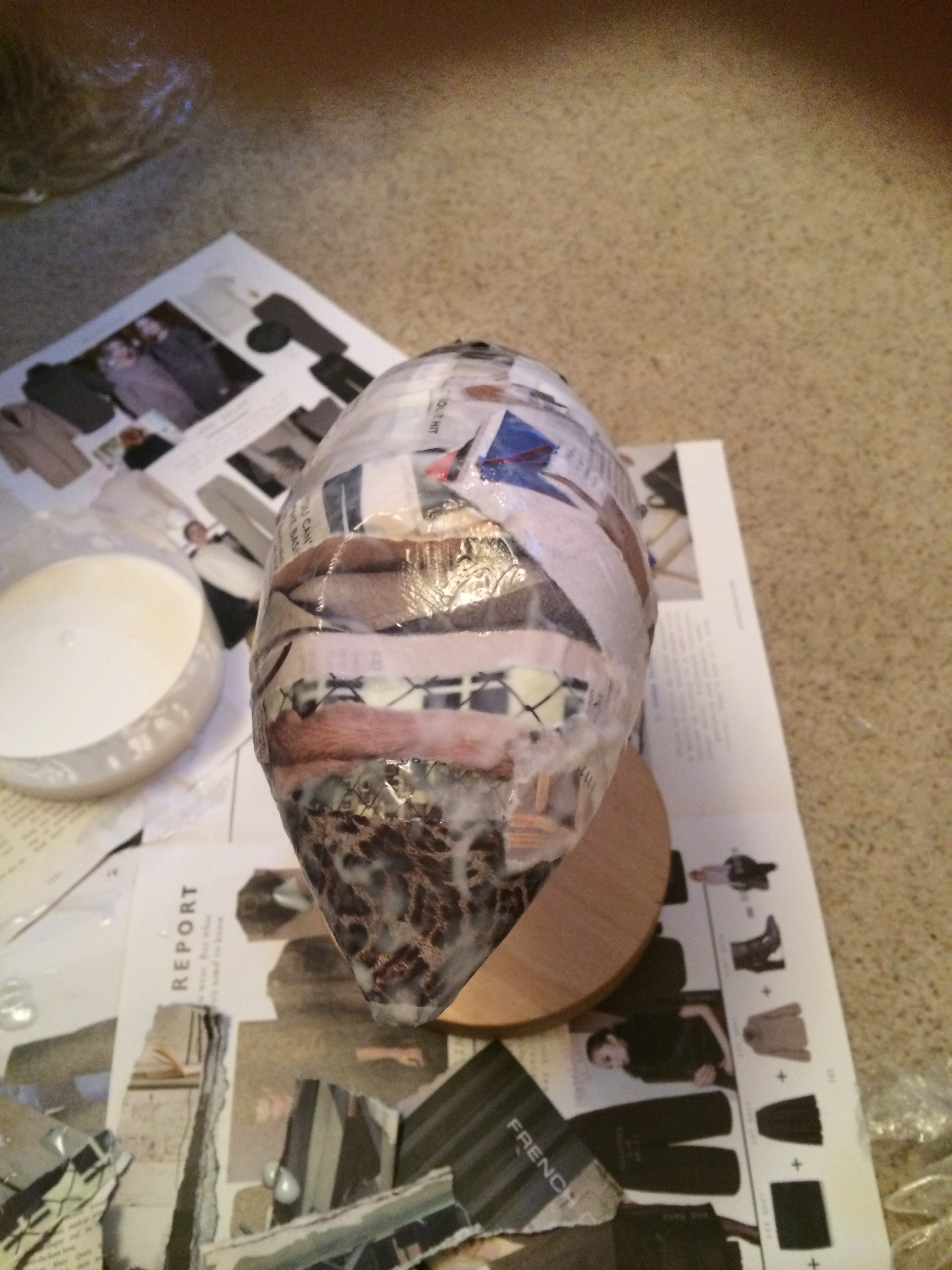 Picture of Step One - Making the Paper Mache