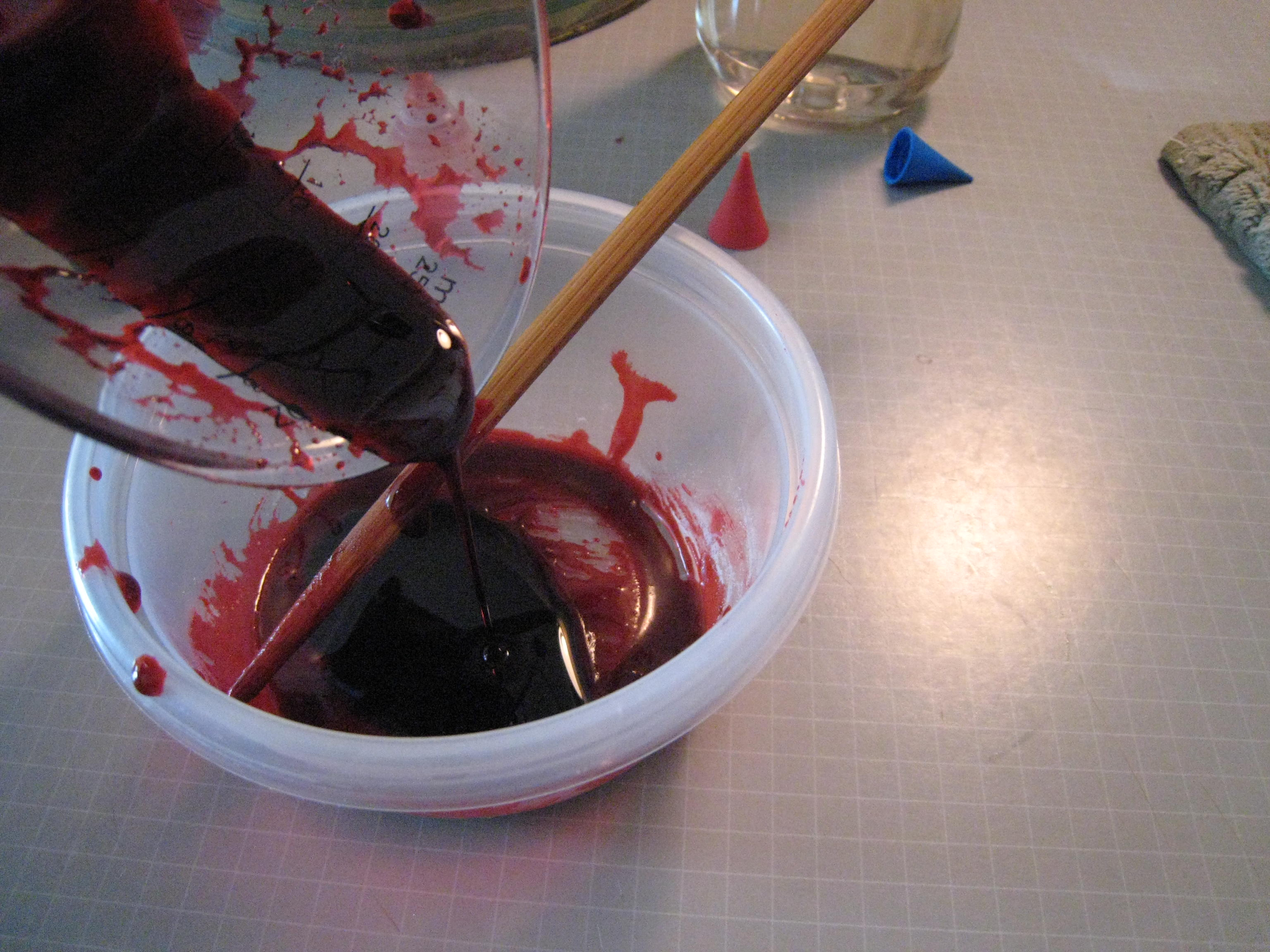 Picture of No-Cook Edible Fake Blood for Mouth Wounds, Etc.