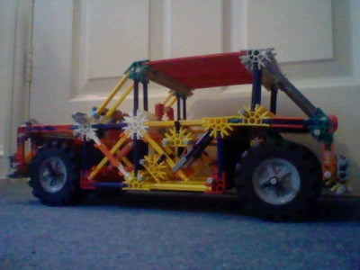 Knex Car With Large Trunk Space (Updated).