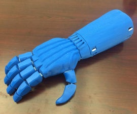 Streamlined 3D Printed Prosthetic Hand
