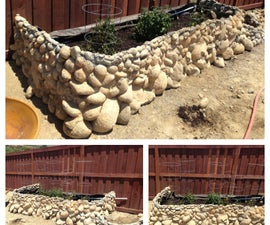 Giant Planter Made Of Re-used Rocks