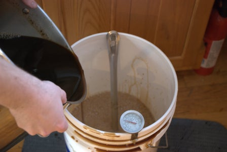 Pour Wort Into Fermenting Bucket