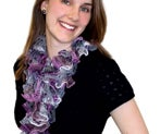Adorable Ruffle Scarf Instructions (Patons Pirouette)