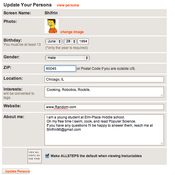 Picture of Updating Your Personal Information