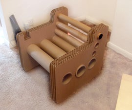 Zig Zag Structure - Cardboard Chair