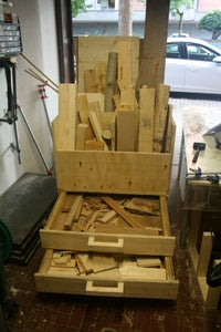 Lumber Storage Cart With Bottom Drawers