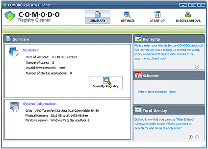 Picture of Registry Cleaner (Comodo)