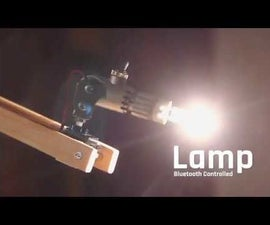 Lamp,  Bluetooth Controlled