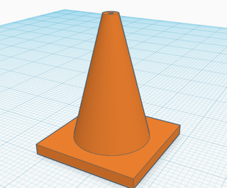 创建一个交通锥