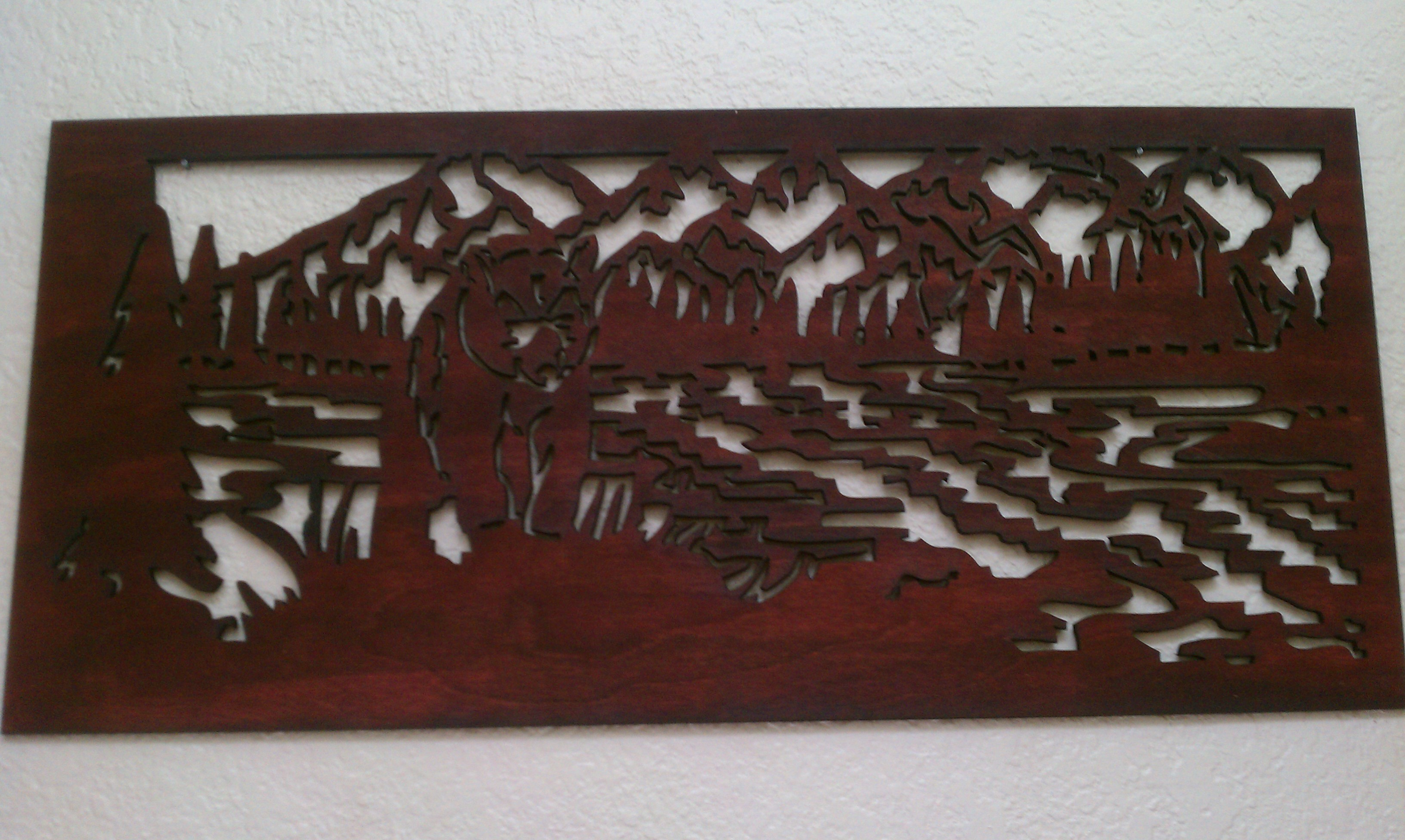 Picture of Laser Cut Fretwork Wall Hanging