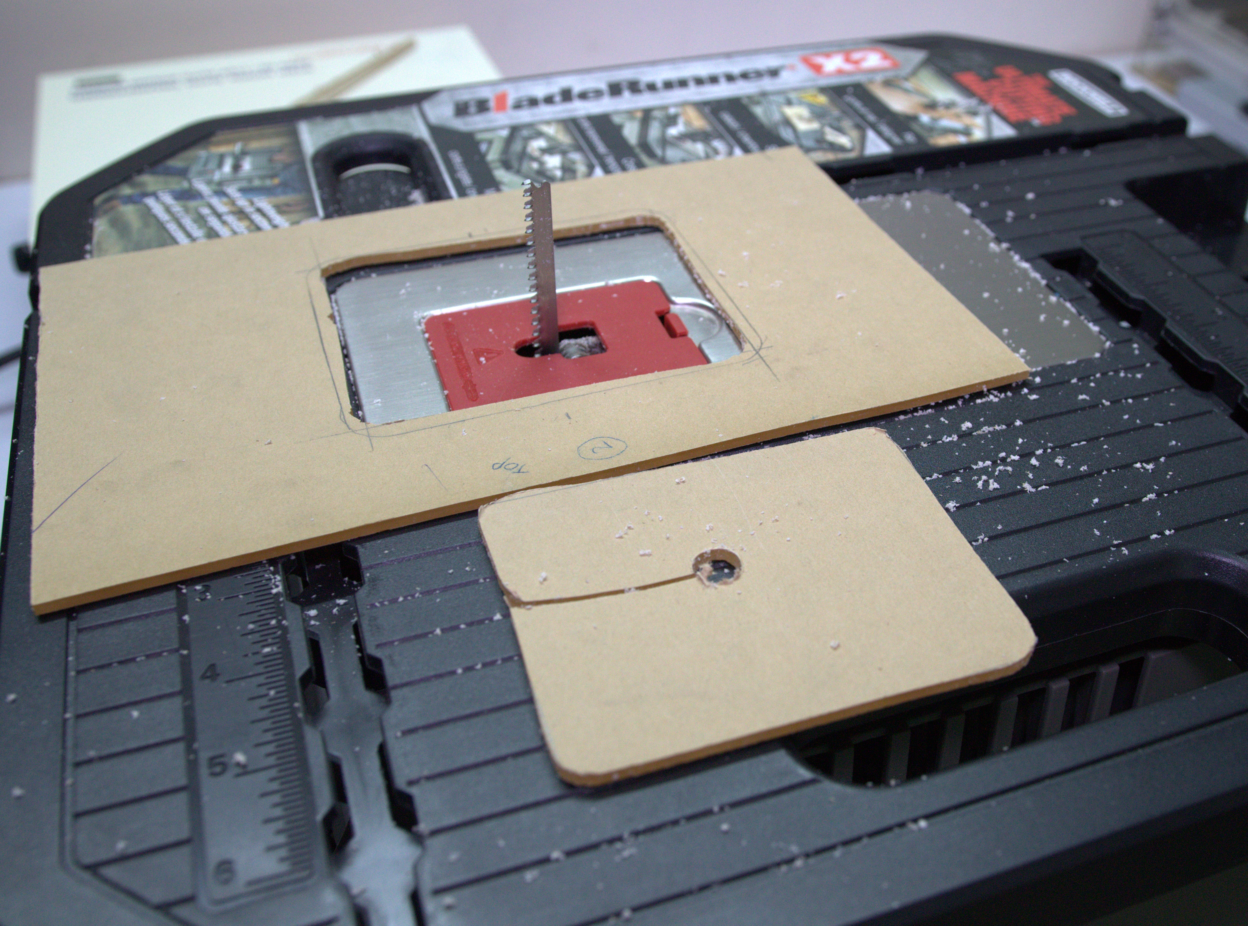 Picture of Cutting the Slot for Peltier Module