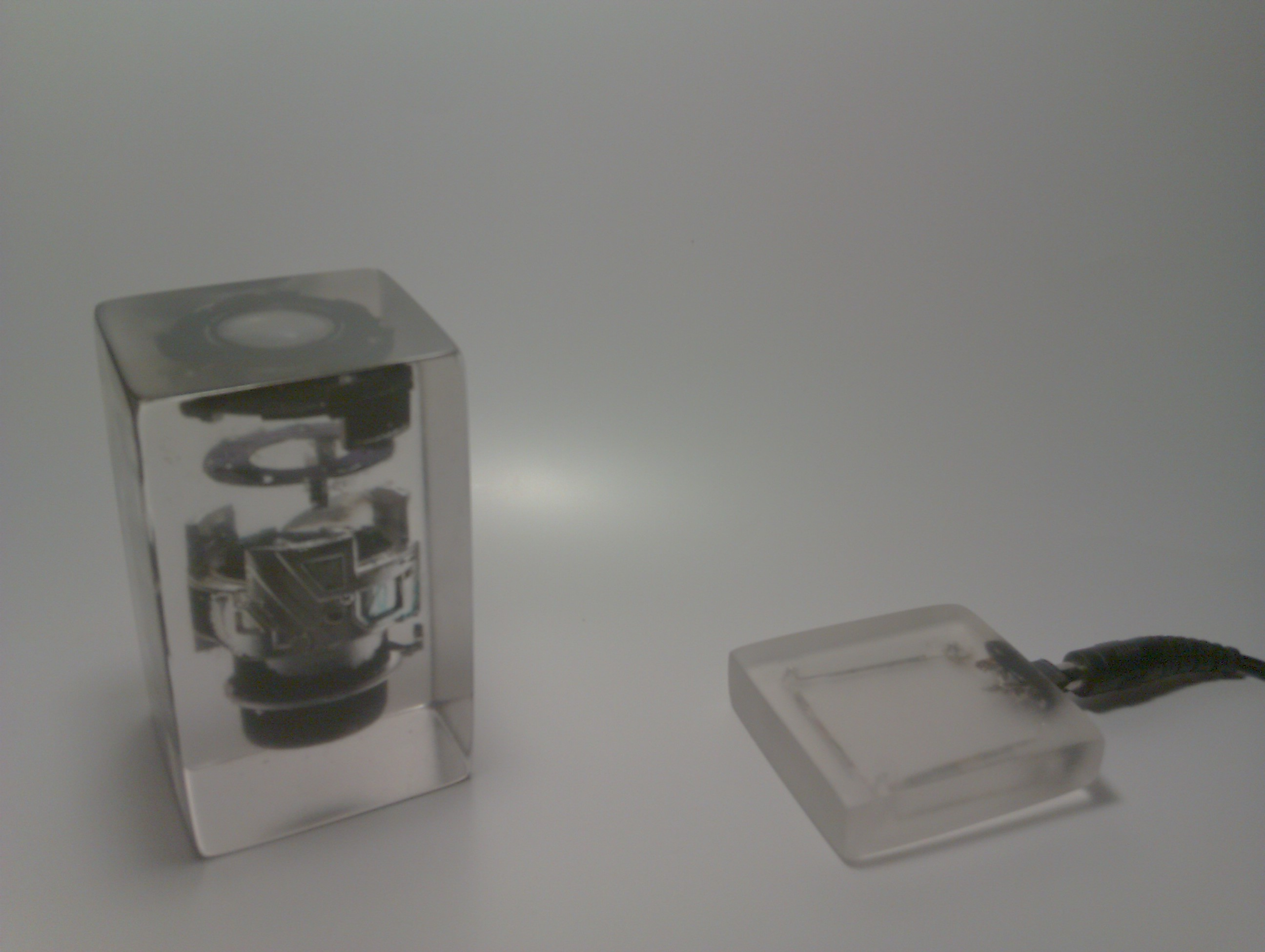 Picture of Lens Aperture Exploded in Resin