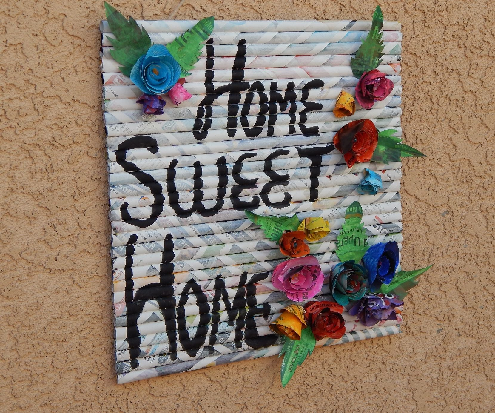 Sweet Home Paper Wall Hanging Art 5 Steps