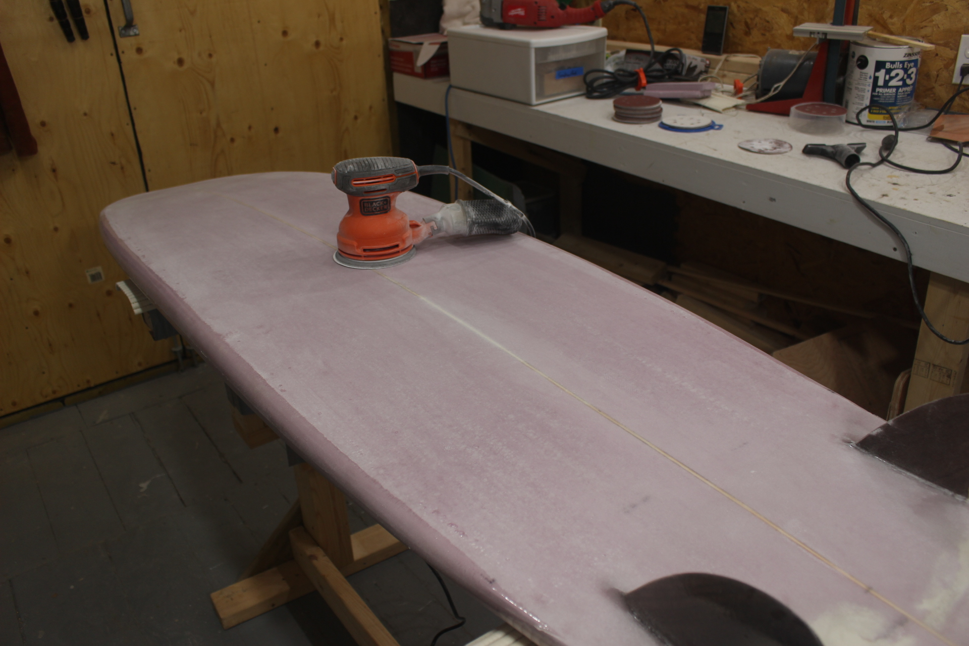 Picture of Sanding the Hotcoat