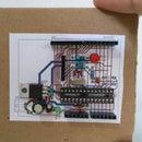 PCB mockup prototype in cardboard