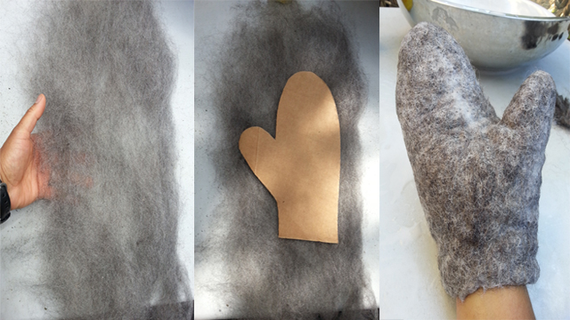 Picture of Easy Felted Wool Mittens