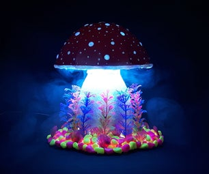 Cardboard Magic Mushroom Lamp