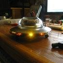 Steampunk Desktop U.F.O. with Chasing LED Lights