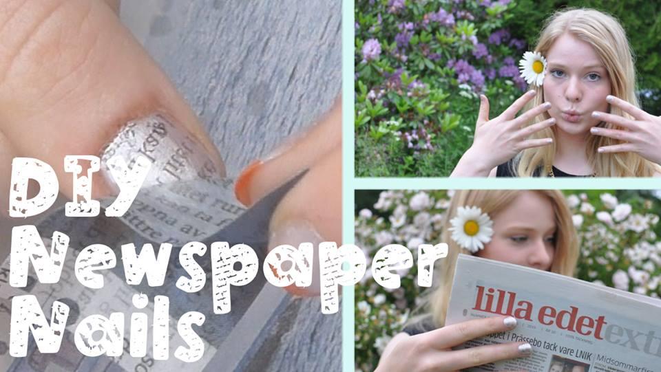 Picture of DIY Newspaper Nail Art