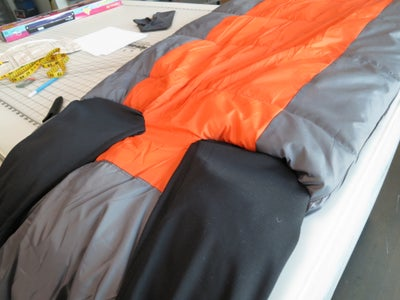 Sew the Arms and Legs to the Sleeping Bag