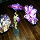 JoY's Rawcopiednature Eternal Beauty flowers from upcycled CDs and DVDs