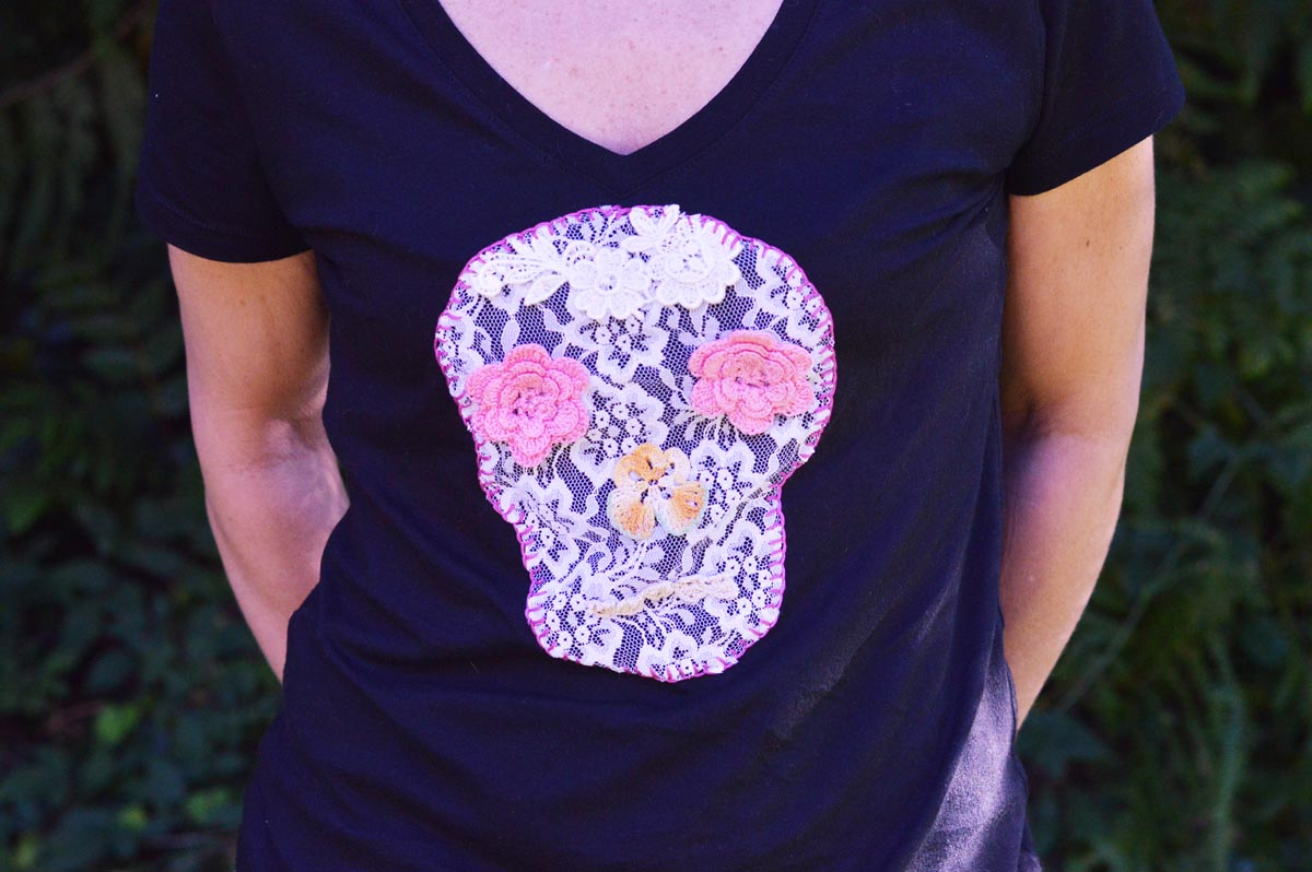 Picture of Lace Skull Tee DIY