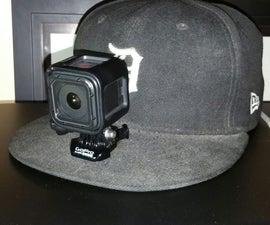 Homemade Gopro zip tie Hat Mount