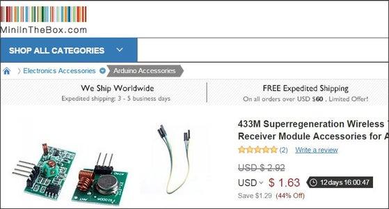 Simple Arduino Wireless Burglar Alarm