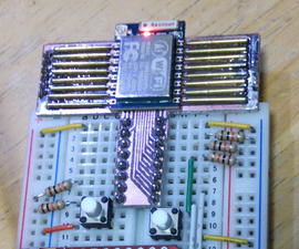 Detouchable Converter Board for ESP-07 and 12 With Pogo Pins