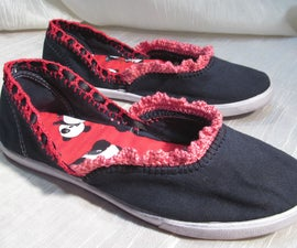 Dingy to Darling-canvas shoe remodel