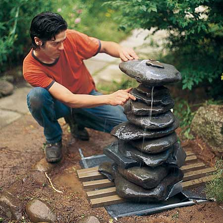Picture of How to Make a Garden Fountain Out Of, Well, Anything You Want