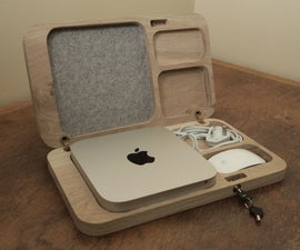 Oak Mac Mini Case