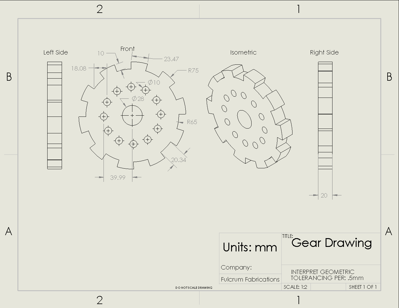 Picture of Gear Drawing