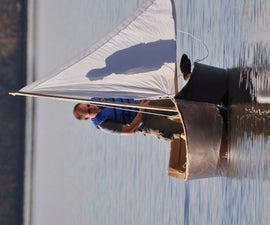 7ft Wooden Sailboat