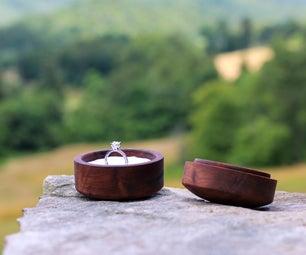 Woodturned Engagement Ring Box