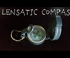 How to use a lenstatic compass